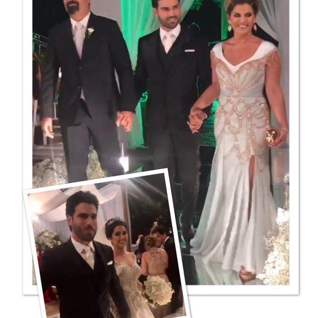 Dois momentos do casamento de Alzir Aguiar Neto e Brunahellip