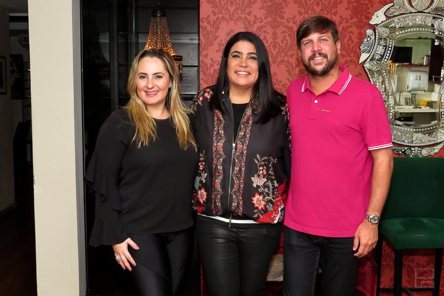 Carol Targino, Jussara Florentino e Felippe Serpa | Fotos: PG