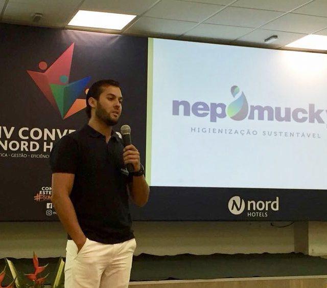 O executivo da nepomuckyhigienizacao  Thiago Nepomuceno participou da IVhellip