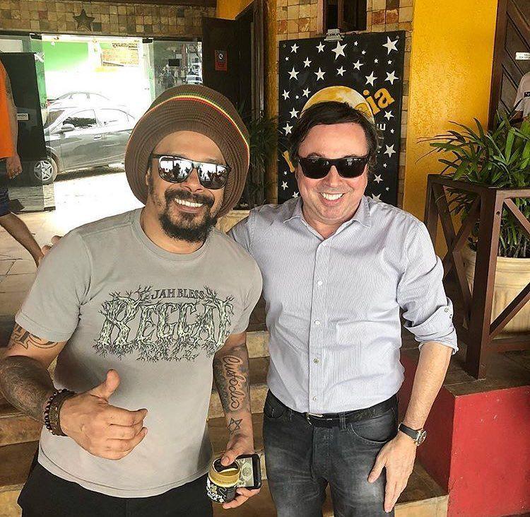 Marcelo Falcão e Junior Evangelista | Foto: Reprodução